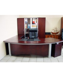 Стол руководителя Диал YDK 3009 с кожаной накладкой