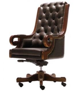 Кресло руководителя Диал Роял (кожа)