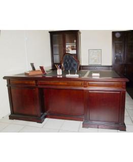 Стол руководителя Диал Classic 3050 с кожаной накладкой