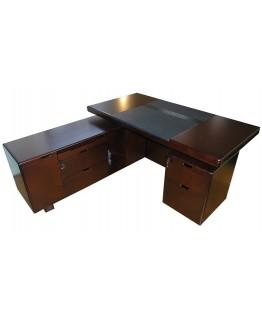 Стол руководителя Диал YDK 606 с кожаной накладкой