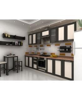 Кухня СМ Ломбардия (бежево-шоколодный)
