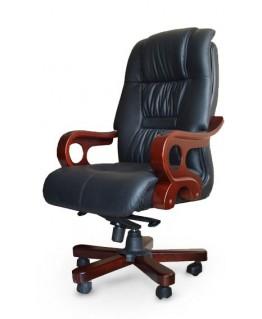 Кресло руководителя Диал Дерби (кожа, дерево)