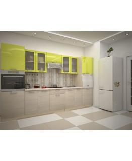 Кухня модульная СМ Киви (3400x600x2132)
