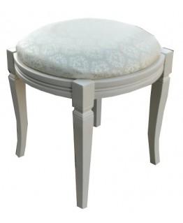 Банкетка МИКС-мебель Феникс круглая (слоновая кость)