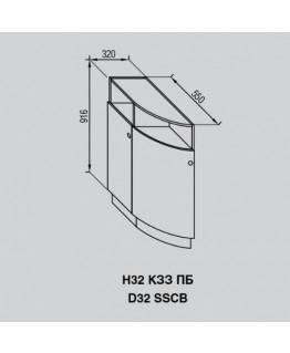 Кухонный модуль Свит меблив Валенсия Н 32КЗЗ ПБ