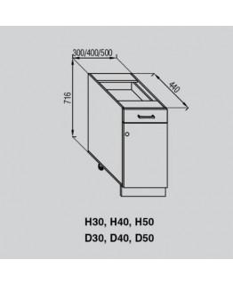 Кухонный модуль Світ меблів Валенсия Н 50