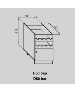 Кухонный модуль Світ меблів Валенсия Н 50 бар