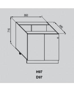 Кухонный модуль Світ меблів Валенсия Н 97