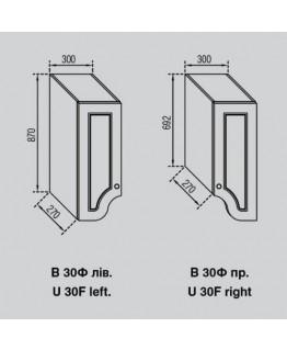 Кухонный модуль Свит меблив Валенсия В 30Ф