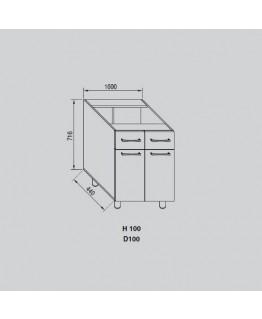 Кухонный модуль Свит меблив Адель Н 100