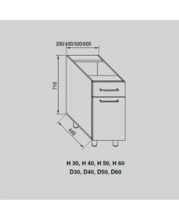 Кухонный модуль Свит меблив Адель Н 30