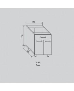 Кухонный модуль Світ меблів Адель Н 80