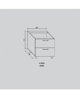 Кухонный модуль Світ меблів Адель Н 80Ш