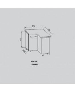 Кухонный модуль Світ меблів Адель Н 87х87