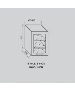 Кухонный модуль Свит меблив Адель В 40Ск