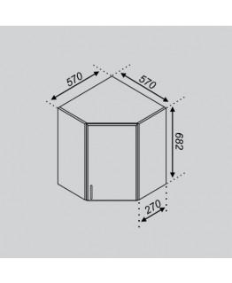Кухонный модуль Свит меблив Тюльпан 57×57Ск