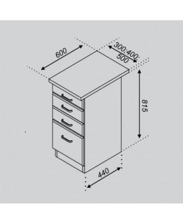 Кухонный модуль Свит меблив Тюльпан Н 30Ш