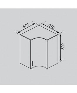 Кухонный модуль Світ Меблів Тюльпан Р 57×57