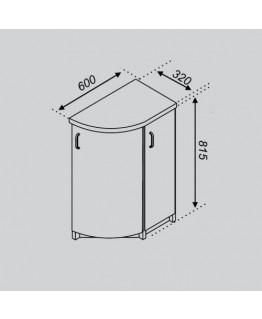 Кухонный модуль Свит меблив Тюльпан Н 32КЗЗ
