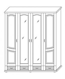 Шкаф ТеМП Мебель Ш 4-х дверный