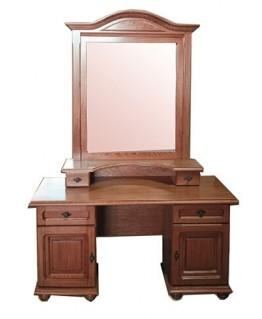 Туалетный столик Элеонора стиль Эльза двухтумбовый с зеркалом