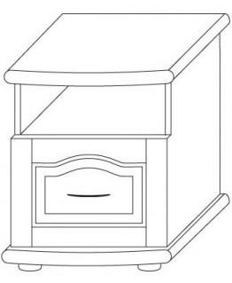 Тумба прикроватная ТеМП Мебель Т 3