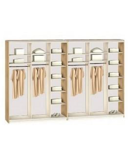 Шкаф-купе 6-ти дверный Комфорт мебель Стандарт (4200х450х2400)
