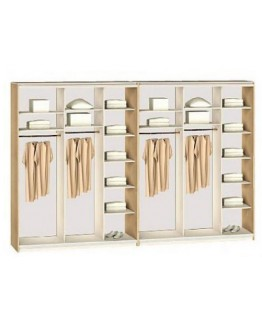 Шкаф-купе 6-ти дверный Комфорт мебель Стандарт (4600х450х2400)