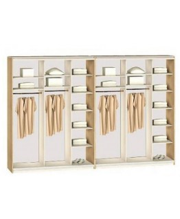 Шкаф-купе 6-ти дверный Комфорт мебель Стандарт (5000х600х2400)