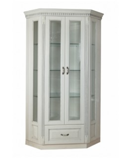 Витрина Родзин Платина 2-х дверная угловая прямая