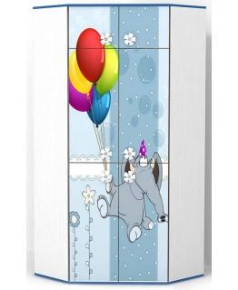 Детский шкаф Luxe Studio Elephant угловой
