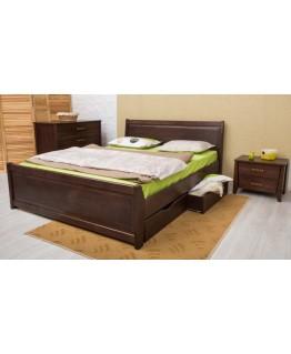 Кровать Олимп Сити 1,6 (с филенкой и ящиками)