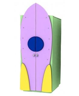 Детский шкаф Ренессанс Ракета (гардероб)