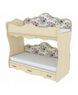 Двухъярусная кровать Ренессанс Прованс КД 4-5 с накладками