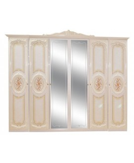 Шкаф 6-ти дверный Світ Меблів Кармен нова