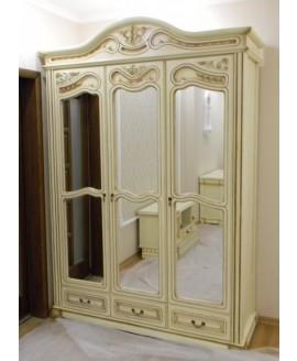 Шкаф ЮрВит Орхидея 3-х дверный