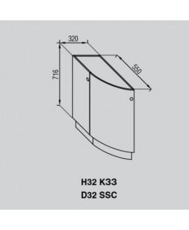 Кухонный модуль Світ меблів Валенсия Н 32КЗЗ