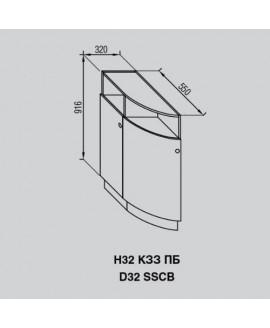 Кухонный модуль Світ меблів Валенсия Н 32КЗЗ ПБ