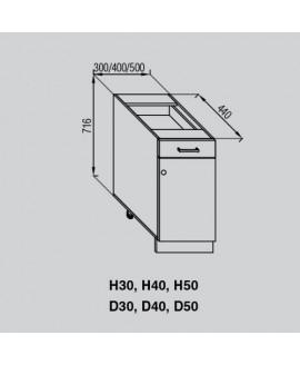Кухонный модуль Світ меблів Валенсия Н 40