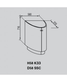 Кухонный модуль Свит меблив Валенсия Н 58КЗЗ