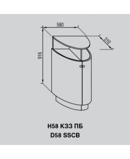 Кухонный модуль Світ меблів Валенсия Н 58КЗЗ ПБ
