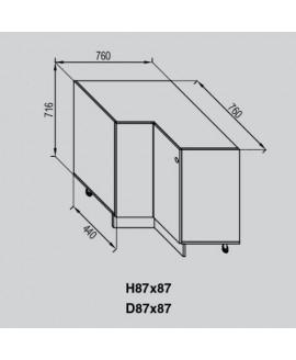 Кухонный модуль Світ меблів Валенсия Н 87×87