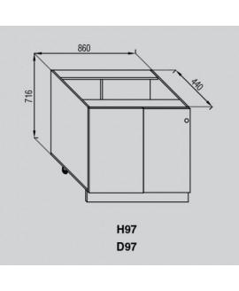 Кухонный модуль Свит меблив Валенсия Н 97