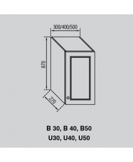 Кухонный модуль Світ меблів Валенсия В 30