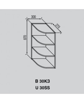 Кухонный модуль Світ меблів Валенсия В 30КЗ