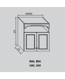 Кухонный модуль Світ меблів Валенсия В 60