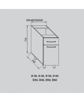 Кухонный модуль Світ меблів Адель Н 30