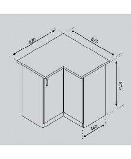 Кухонный модуль Світ меблів Оля 87×87