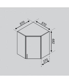 Кухонный модуль Світ меблів Тюльпан 57×57