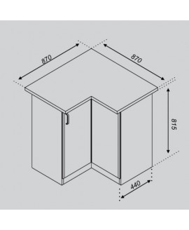 Кухонный модуль Світ меблів Тюльпан 87×87